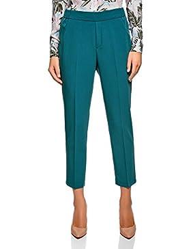 oodji Ultra Mujer Pantalones Ajustados con Cintura Elástica