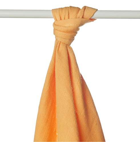 XKKO bmb09 0003 a Couche Serviettes à langer Bambou, allaiter, comme tapis ou couverture légère, couches 90 x 100 cm, ORANGE