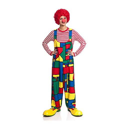 Kostümplanet Clown-Latzhose Damen für Clown-Kostüm lustiges Faschingskostüm große Größen ()