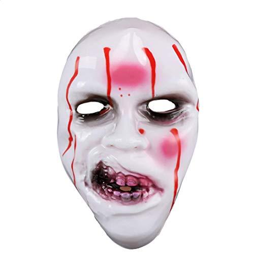 (KingProst  Grimace Zombie Maske Halloween KostüM Fur Party Fasching Karneval (A))