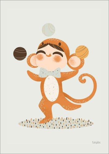 Unbekannt Forex-Platte 50 x 70 cm: Kostümierter Affe von Kanzi Lue (Niedliche Affe-kostüm)