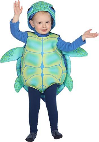 Turtle Kostüm Für Kleinkind - Wilbers Schildkrötenkostüm Kostüm Schildkröte Kröte Tierkostüm Karneval Fasching 86-98 Grün/Blau 98 (ca. 3 Jahre)
