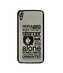 Casotec Quotes Pattern Design Canvas Printed Soft TPU Back Case Cover for HTC Desire 828 Dual