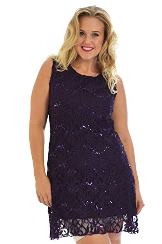 Flapper Lace Dress Purple 20-22
