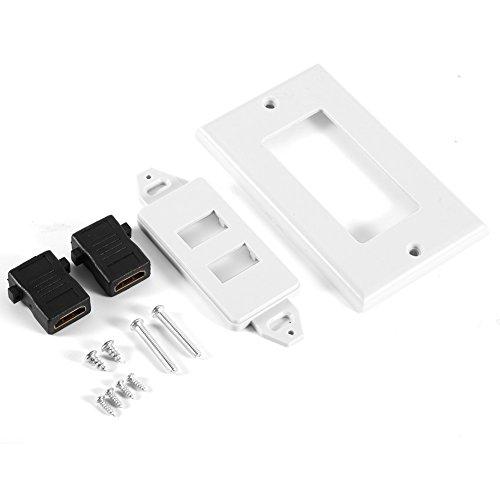 Yudanny 1/2 Port HDMI VGA Wandblende, Abdeckung Steckdose, Extender Adapter HDTV 1080P 1080p Full Hdtv