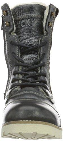Yellow Cab Damen Soldier Eva W Biker Boots Schwarz (Black)