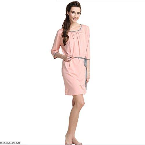 Accappatoi Accappatoi da donna Fibre sintetiche Abbigliamento da notte per donna Camicia da bagno con scialle per adulti ( Color : Gray , Size : M ) Rosa