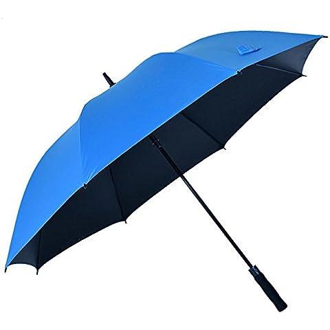 SSBY Semi automático el paraguas, paraguas largos de gran pantalla paraguas creativo hombres y mujeres moda negro plástico , single - sky blue