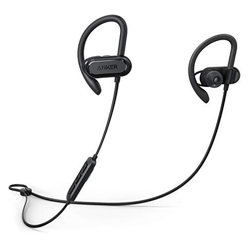 Soundcore Spirit X Bluetooth Kopfhörer von Anker, mit SweatGuard Technologie, 12 Stunden Akkulaufzeit, Super Halt und Fantastischem Sound, für iPhone, iPad, Samsung, Huawei, HTC und Mehr (Schwarz)