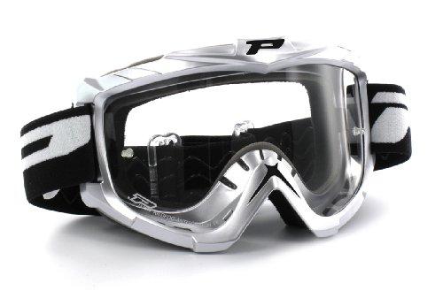 Progrip Motocross Brille 3301 Basicline, Silber