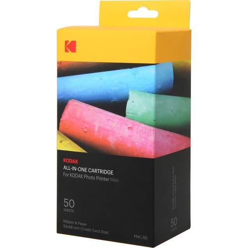 Kodak–Nouvelle Cartucho MC impresión fotográfica Mini–Cartucho Todo-en-uno (Tinta y Papel)–Lote de 50–Compatible con cámara Mini Shot, Impresora, Mini 4