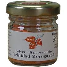POLVERE MORUGA RED (MOLTO PICCANTE) - PEPERONCINO PICCANTE - SCOVILLE 2.000.000 PICCANTEZZA SUPER - Società Agricola Alba - vaso da gr.10