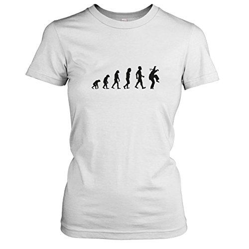 TEXLAB - Kranich Evolution - Damen T-Shirt, Größe XL, weiß (Mma Damen Kostüm)