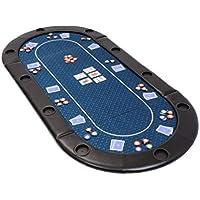 Riverboat Gaming Classic Faltbare Pokerauflage mit blau wasserabweisenden Stoff und Tasche - Pokertisch 200cm