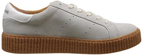 Unbekannt Damen Picadilly Sneaker Suede Flach Blanc (White Sole Mastic)