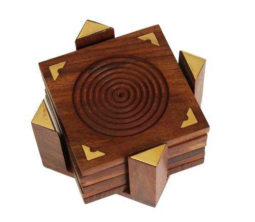 fine-polished-set-of-6-hand-carved-wooden-drink-square-coasters-holder-with-beautiful-brass-inlay-ba