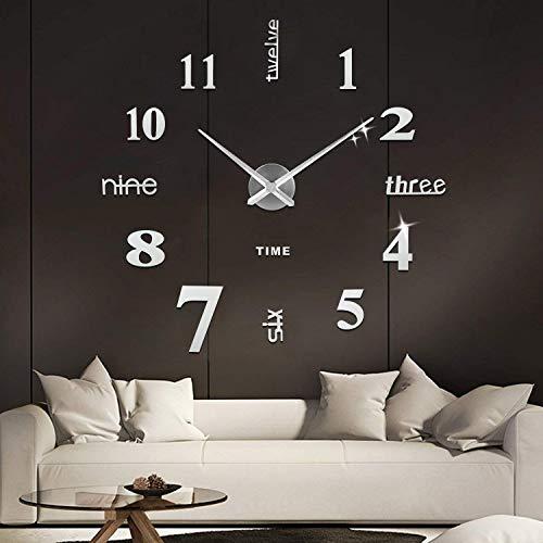 SOLEDI Orologio da Parete Silenzioso Preciso Fai da Te 60-120cm Facile da...