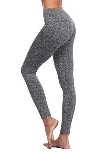 Charmo Yoga Capris Lange Trainingshose Laufhose Kompression Jogginghose Pilates Hose für Damen XL -
