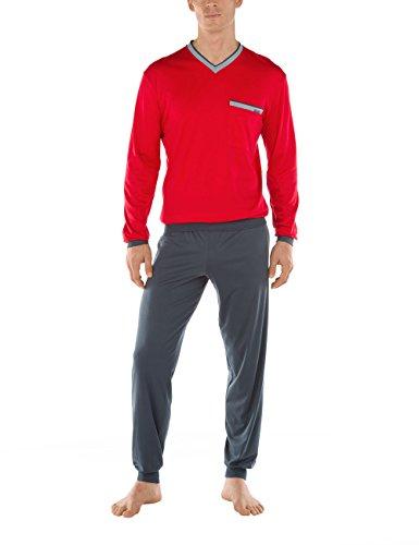 Calida Herren Zweiteiliger Schlafanzug Casablanca Pyjama Rot (tango Red 156)