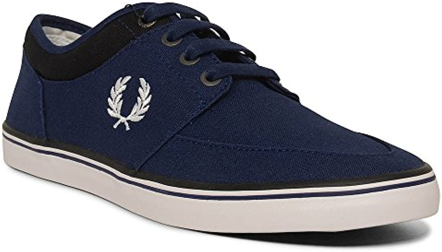 Fred Perry Stratford Canvas French Navy Snow White B1167143  Turnschuhe