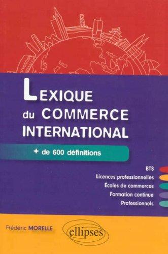 Lexique du Commerce International + de 600 Définitions