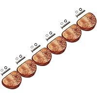 Sharplace 6PCS Tuning Clavijas Máquina Cabezas Manijas Mango Para Guitarra Partes - café
