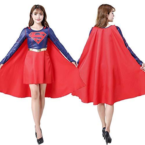 NEW EXOTIC Cosplay Kleidung Supergirl Cosplay Kostüm 3D Digitaldruck Enge Weihnachten Halloween Kostüm Für Kinder/Erwachsene - Deluxe Supergirl Kind Kostüm