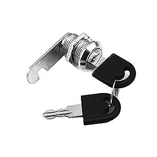 Doutop Cerraduras para armario de llave de bloqueo de puerta para buzón, cajón o armario, 16 mm, 20 mm, 25 mm, 30 mm, con llaves