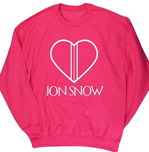 hippowarehouse-jon-snow-heart-corazon-jersey-sudadera-sueter-derportiva-unisex