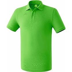 erima Poloshirt Teamsport - Polo para niña, color verde, talla 6 años (116 cm)