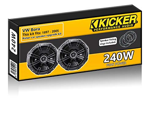 VW Bora Front Door Speakers Kicker 6.5