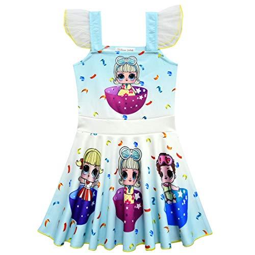 QYS Mädchen Kinder LOL Puppe Überraschung Prinzessin Kostüm Halloween Cosplay Kostüme Tanz Ballerina Party - Tanz Kostüm Puppe