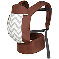 Multi-Position Ergonomic Baby Carrier Backpack - Lightweight Cotton Toddler Wrap, Skin-Friendly Soft Material-Brown