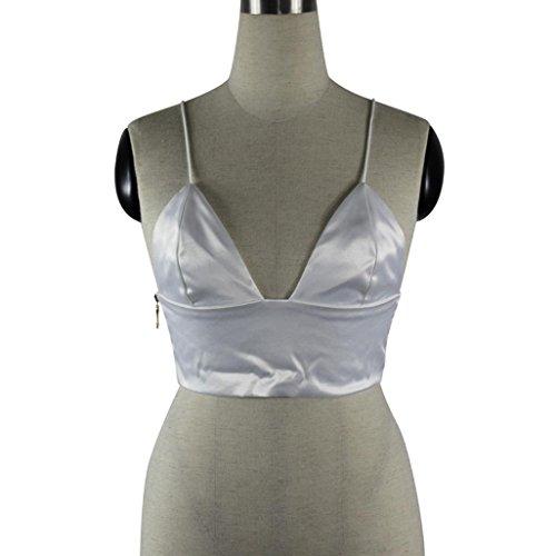T-shirt femme d'été, Transer ® Femme Sexy d'été sans manches gilet débardeurs Blanc