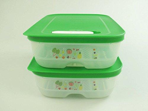 TUPPERWARE Kühlschrank 1,8 L grün (2) KlimaOase flach PrimaKlima Klimakönig 17187 - Tupperware Kühlschrank Frisch