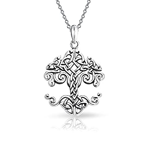 Small Celtic Knot Tree of Life Sterling Silver Pendant Necklace 18 Inch