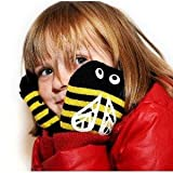 Snuguns bumble bee Mittens for children, easy on, stay on mittens for kids