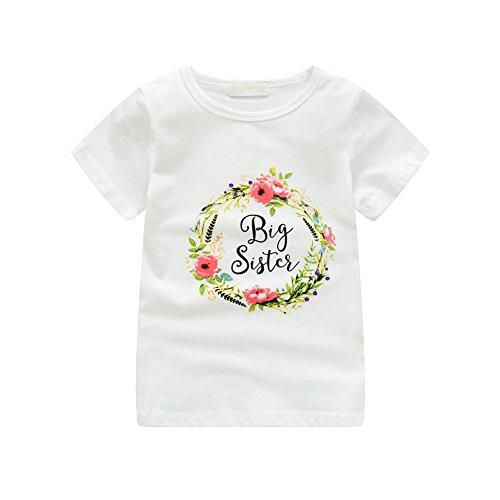Groß Und Groß Gedruckt T-shirt (Brightup 2018 Tops, Kleine Schwester Strampler, Große Schwester Gedruckt T Shirt, Kinder Baby Mädchen T Shirt/Bodysuit, Sommer Tee Shirts)