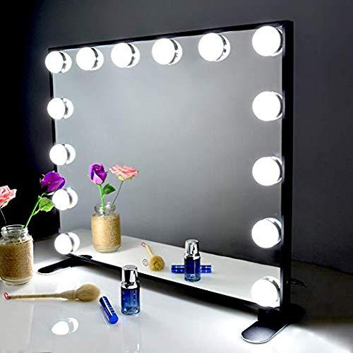 BEAUTME Espejo De Maquillaje Hollywood, Profesional Espejo de Tocador con Luz LED Táctil Inteligente...