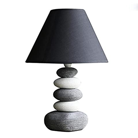 Simple salon lampe étude pierre créative personnalité chambre à coucher lampe de chevet
