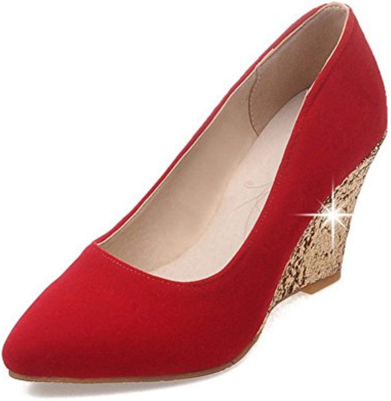 1To9 Escarpins Pour Pour Pour Femme Rouge Red, 41.5 EU, MMS02103B06XTT1C2HParent 658181