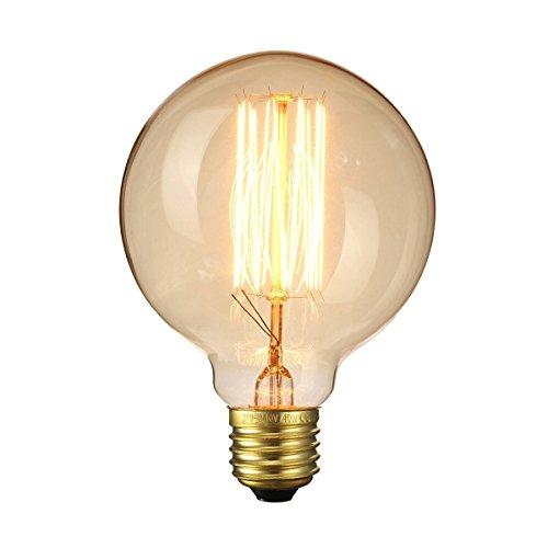 lbbdb Leuchtmittel Retro Altmodisch Edison Stil Vintage Lichtquelle E27Schraube Glühbirne Eichhörnchen Käfig Tungsten Filament Glas G95220V 4w (4 Light-anhänger Käfig)