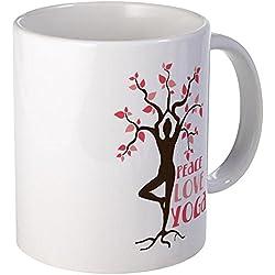 CafePress - PEACE LOVE YOGA Mugs - Coffee Mug, Novelty Coffee Cup by CafePress