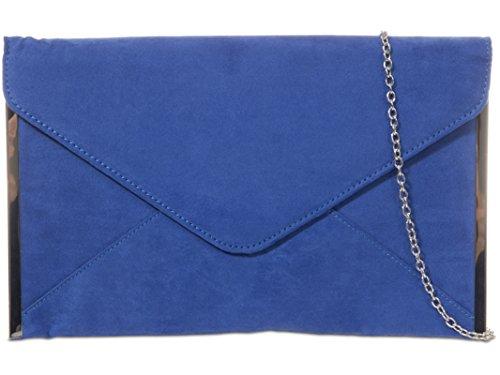 fi9®, Poschette giorno donna multicolore Grey Royal Blue