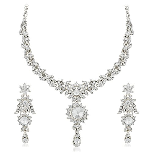 Apara-Sparkling-Rodium-Necklace-set