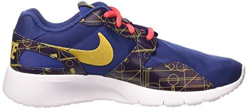 Nike Kaishi Print (GS) Scarpe Sportive, Ragazzo Insgn Bl/Mtllc Gld-Embr Glw-Wh