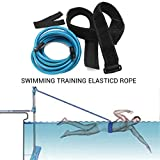 Yissma ZwemBungee Trainingsriem Zwemweerstandsriem Zwemtrainingsriem Zwemband Zwemband voor volwassenen, keuze uit verschillende maten