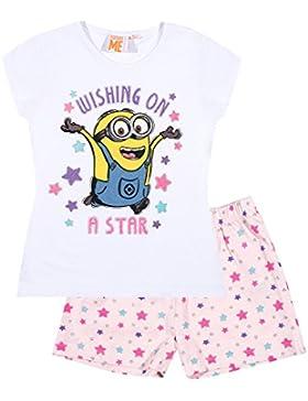 Minions Despicable Me Mädchen Shorty-Pyjama - weiß