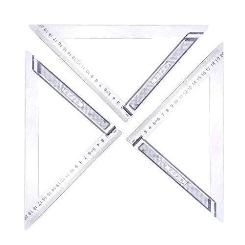 FLAMEER 3 X Winkel Lineal Metrisches Dreieck Lineal Passend Für Bauherren, Holzbearbeitung DIY, Tischler, Künstler