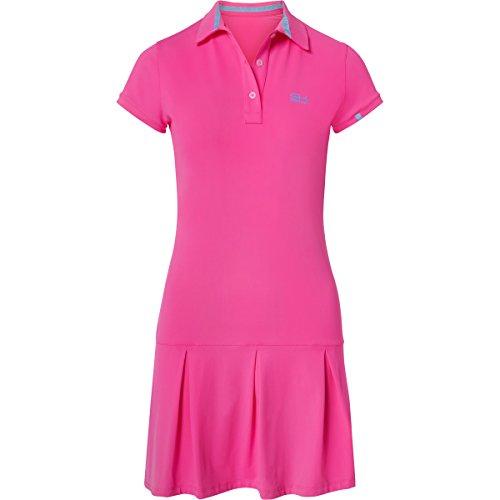 Sportkind Mädchen & Damen Tennis / Hockey / Golf Polokleid, neon pink, Gr. 110